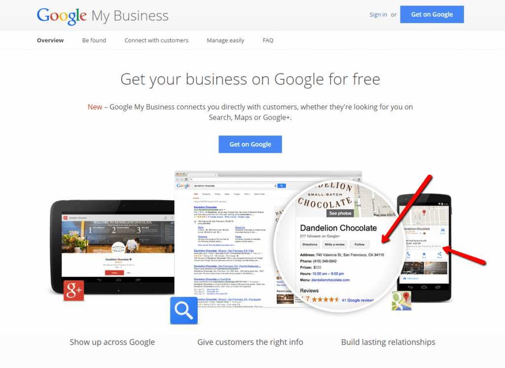 Google My Business for VersaTables does not exist