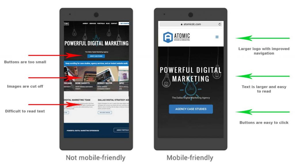 google mobile first example